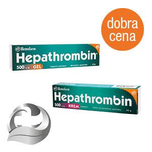 Hepathrombin 500 I.J./G krem i gel 40g*