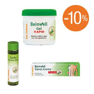 Beinwell Gavez Rapid, Fluid i krema